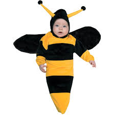 newborn halloween costume bumble bee bunting infant costume buycostumes com