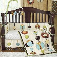Jungle Themed Crib Bedding Crib And Bedding Will Go Right Along With Animal Themed Room