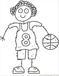 87 ll cartoon coloring coloring free basketball