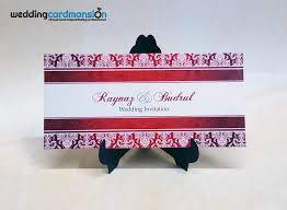 Damask Wedding Invitations Red Damask Wedding Invitation Wc352 U2013 Wedding Card Mansion