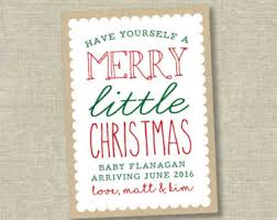 christmas pregnancy announcement etsy