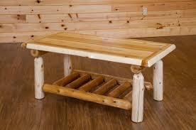 white cedar coffee table