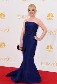 dress emmys 2014 melissa rauch royal blue dress evening dress