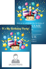 birthday invitation cards personalized birthday invitation card