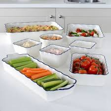 oven to table platter oven to table set 8 piece navy and white speciality cookware from