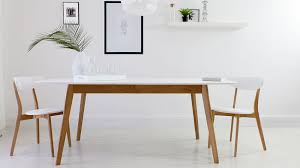 White And Oak Dining Table Eye Catching White And Oak Dining Set Aver Extending At Table