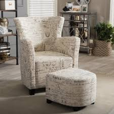 Patterned Armchair Chair U0026 Ottoman Sets Living Room Chairs Shop The Best Deals For