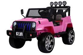 jeep rubicon 2017 pink rocket wrangler 4wd 12v electric ride on jeep pink