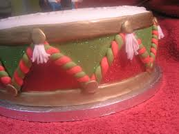 christmas drum and marzipan little drummer boy fruit cake with