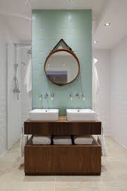 Bathrooms Designs Trendy Twist To A Timeless Color Scheme Bathrooms In Blue And Yellow