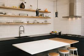 great ideas for small kitchens white wall shelves for effective storage in small kitchen