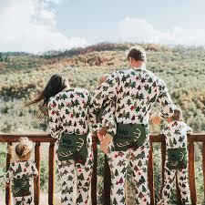 family matching reindeer trees pajamas romper