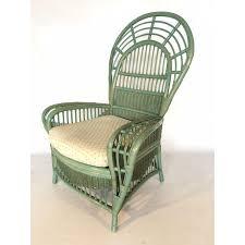 bamboo fan ficks reed rattan bamboo fan back arm chair chairish