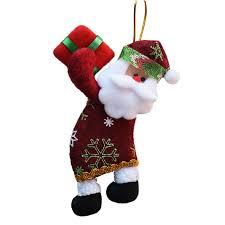 New Year Ornaments Craft 4pcs Lot Santa Dolls Gifts Pendant Sale Tree Decorations