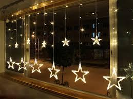 indoor christmas window lights ac110 240v 138 leds strobe light christmas stars decorative string