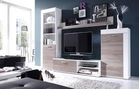 Wohnzimmerschrank Lackieren Wohnwand Weiß Braun Ruhige Auf Wohnzimmer Ideen Auch 6