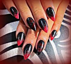 black and red acrylic nails nails pinterest red acrylic