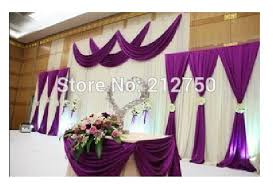 Purple Drapes Or Curtains White And Purple 2014 New Wedding Backdrop Curtains With Swags 3m
