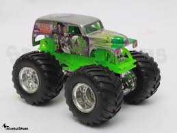 grave digger monster truck fabric wheels monster jam silver grim vum grave digger die cast 1 64