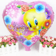 5pcs lot 18 u0027 u0027 heart tweety bird cartoon helium balloon kids