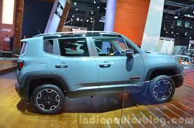 jeep renegade trailhawk blue 2015 jeep renegade trailhawk side at the iaa 2015 indian autos blog