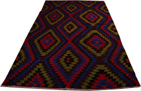 kilim rug for bohemian home decor 6 colors diamond chevron kilim