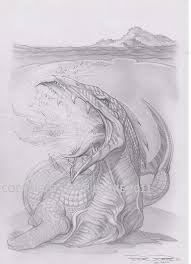 secret ancient sea dragon pencil drawing drawing by peter burke