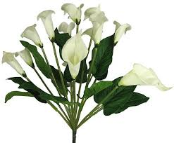silk calla lilies 19 silk calla flower wedding bush