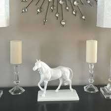 horse statue home decor high end inspired white horse statue home décor diy angela east