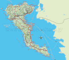 Greek Map 4 Best Corfu Maps In Greek And English Corfu Benitses Travel Guide