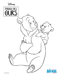 coloring page of the disney movie brother bear color this cute