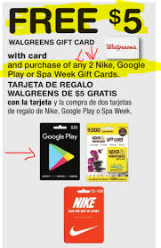 purchase play gift card buy two play gift cards get 5 walgreens gift card