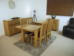 solid oakland oak extending dining table u0026 oak chairs dining