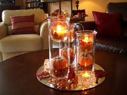 Coffee Table Decorating Ideas by Decoration Ideas Awesome Light Candle In Clear Glass Decor On