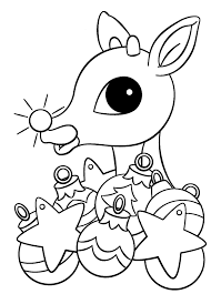 rudolph red nosed reindeer drawing kids coloring