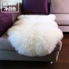 White Fluffy Chair Mdct 60x90cm Faux Fur Area Rugs Carpet Imitation Wool Sheepskin