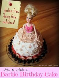 how to make a barbie birthday cake