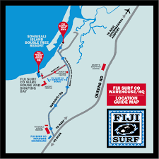 World Map Fiji by Fiji Surf Co Surf Tours