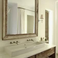 one sink two faucets unique bathroom light grey trough bathroom