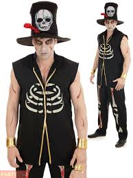 Gangster Couple Halloween Costumes Voodoo Man Witch Doctor Costume Mens Ladies Couples Halloween
