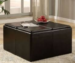 Soft Ottoman Ottoman Cube With Tray Foter