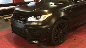 matte black range rover range rover sport satin black wrap 360 youtube