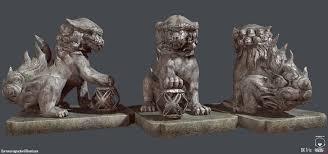 shisa statues shisa guardian lion statue turnaround by darrentucker on deviantart