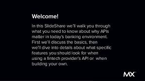 slideshare api the api slideshare for bankers and fintech executives