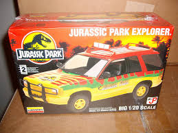 jurassic park car amazon com jurassic park explorer 1 20 scale model kit