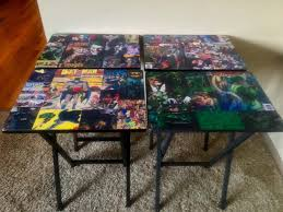 tv trays comic book decoupage home decor bar art man