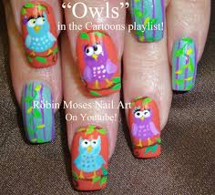 diy easy owl nails