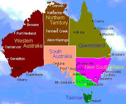 map of australia with cities and states flowers of australia s states and territories australia s states