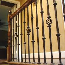Staircase Spindles Ideas Ideas U0026 Tips Charming Wrought Iron Balusters For Elegant Interior