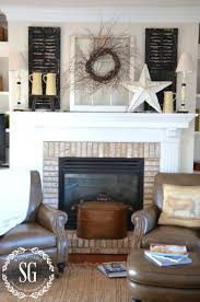 farmhouse christmas mantel christmas mantels fireplace